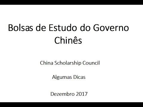 Chinese Government Scholarship - CSC - Algumas dicas
