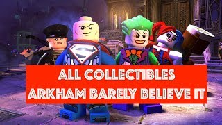 Lego DC Super Villains Arkham Barely Believe It Free Play 100% all Minikits and Collectibles