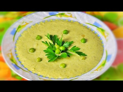 Суп с зеленого горошка