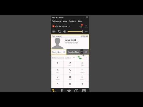 How To Transfer And Conference Calls In Bria 4