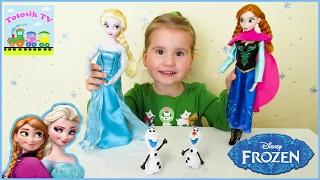 Эльза и Анна Холодное сердце куклы обзор игрушки Frozen Elsa and Anna Disney Store Classic dolls
