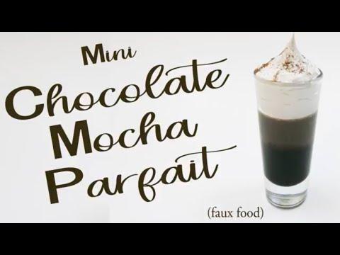 How to Make a Resin Mini Chocolate Mocha Parfait Tutorial, DIY Coffee Mousse Fake Food Prop Craft
