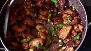 Chicken Machurian Dry, How to make dry chicken manchurian dry recipe