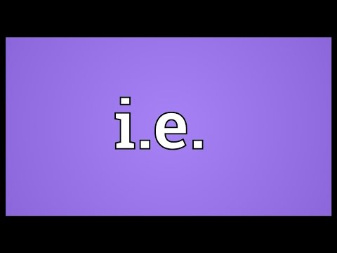 I.e. Meaning