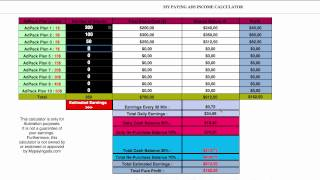mpa calculator tutorial my paying ads income