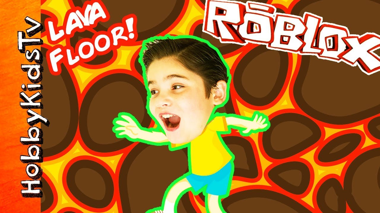 Floor Is Lava! Roblox with Freeze Tag Family Fun Gaming HobbyKidsTV
