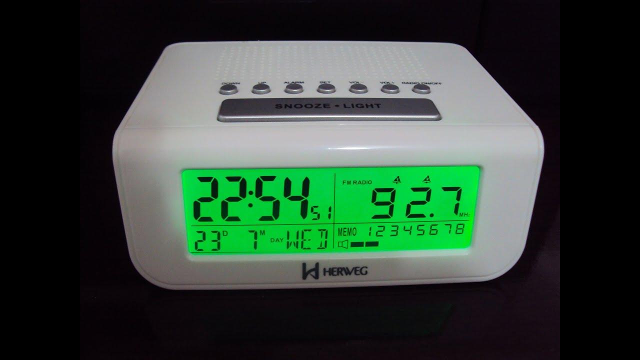 b820e34dfba WWW.VRFERRAZ.COM.BR 8111 - Rádio Relógio Despertador Digital Herweg ...