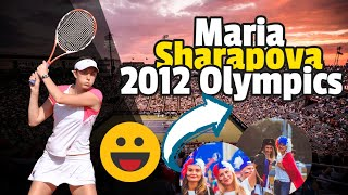 Maria Sharapova carries the flag of Russia in the 2012 Olympics