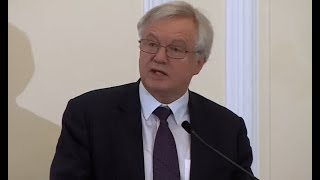 David Davis speaks on state of the Brexit negotiations (21 Nov 2017)