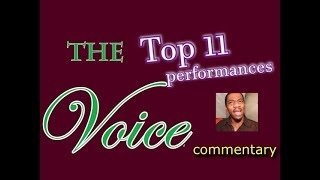 The Voice Top 11 performances (commentary)
