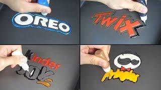 Snack Logo Pancake Art - Oreo, Twix, Kinder Joy, Pringles