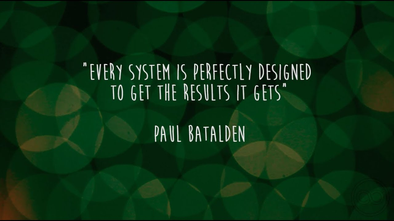 Every System Is Perfectly Designed To Get The Results It Gets Paul Batalden Youtube