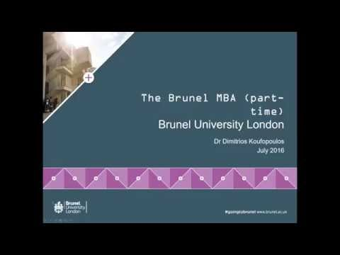 Brunel Part-time MBA and Scholarships | July 2016