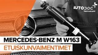 Kuinka vaihtaa Etuiskunvaimentimet MERCEDES-BENZ M W163 merkkiseen autoon [OHJEVIDEO]