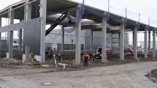 Neubau einer Produktionshalle bei AOS Stahl / Wetter
