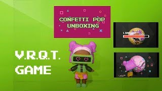 V.R.Q.T. GAME UNBOXING CONFETTI POP - STOP MOTION ANIMATION