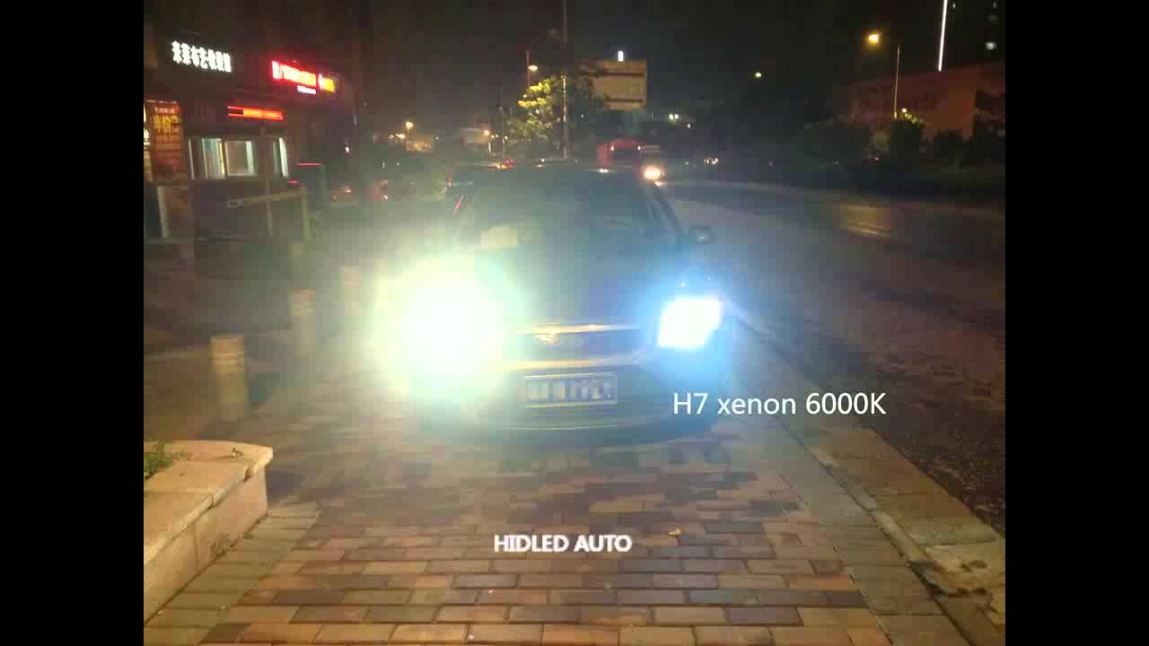 Led Headlights Vs Hid >> 3800lm LED VS HID xenon - YouTube