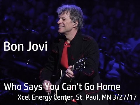 Bon Jovi Who Says You Can't Go Home Xcel Energy Center, St. Paul, MN 3/27/17