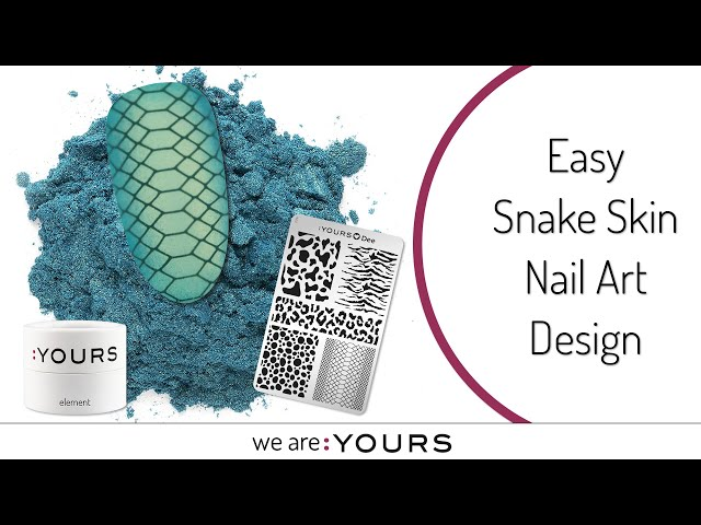 Easy Snake Skin Design I Made with stamping nail art & pigments