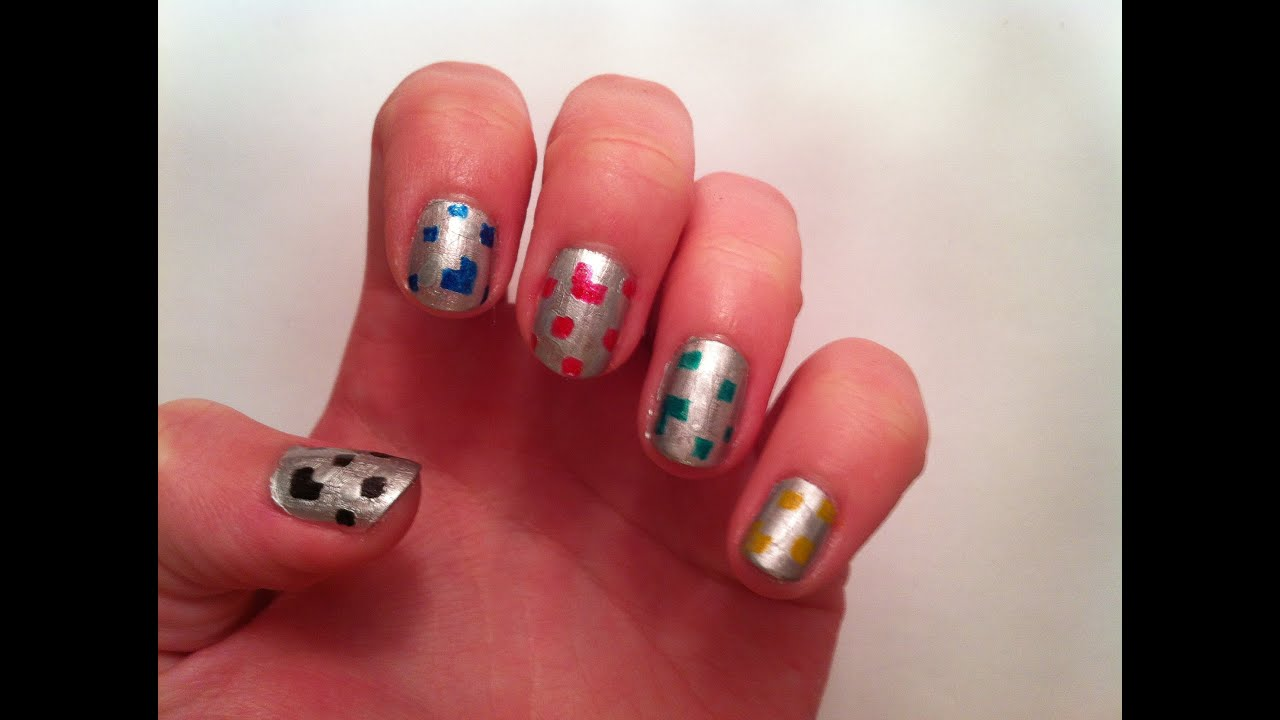 Minecraft Ore Nail Art Youtube