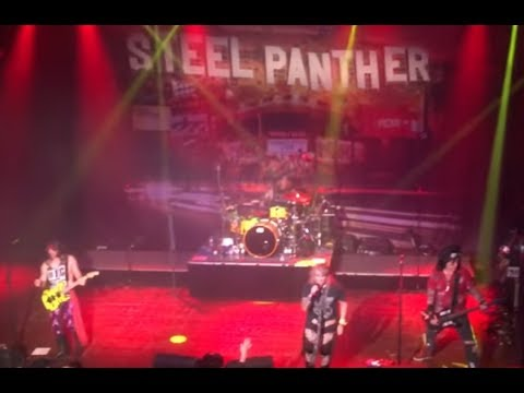 STEEL PANTHER played 1st show w/ fill in bassist Spyder as Lexxi is in sex rehab ..