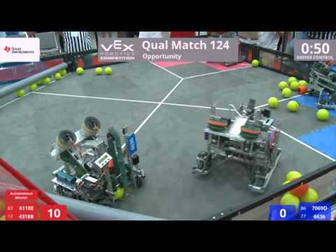 VEX Worlds 2016 - VRC Middle School - Opportunity - Qual 124 (6118E 4318B) 208 vs 134 (7069D 6636)