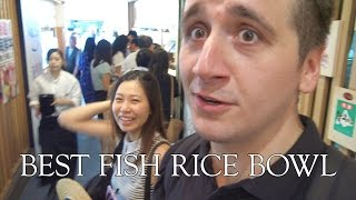 BEST FISH RICE BOWL I'VE HAD IN JAPAN - Tsukiji Fish Market ft internationally ME
