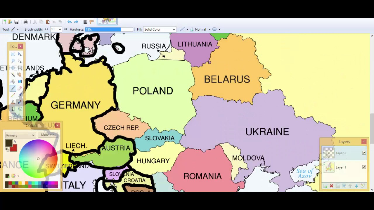 Europedrawing 1 Blank map  YouTube