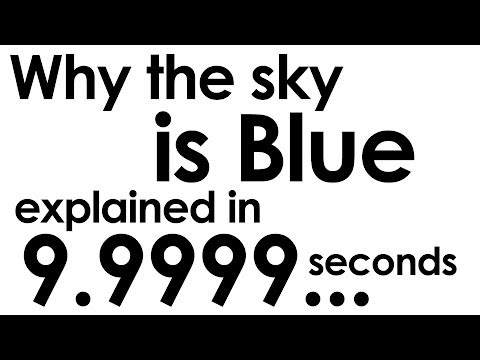 Why the Sky is Blue explained in ten seconds