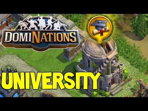 DomiNations #38 | NEW UNBEATABLE Defensive layout , University and Sniper Tower