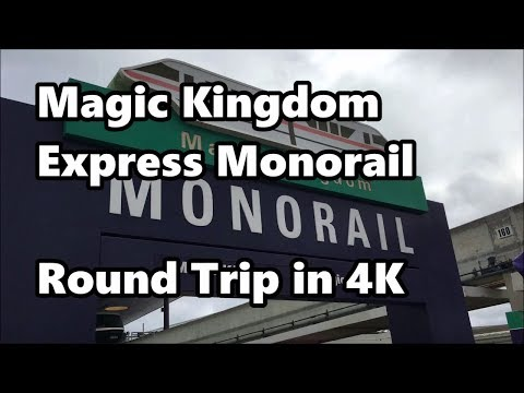 Magic Kingdom Express Monorail | Round Trip Ride in 4K UHD | Walt Disney World