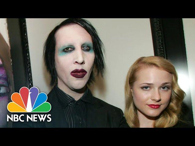 Evan Rachel Wood Says Marilyn Manson 'Horrifically Abused Me For Years'   NBC News NOW