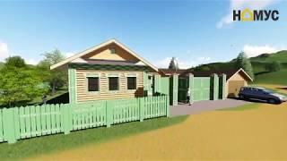 3D проектирование дома для блогера Татар Малай - строительство деревянных домов в казани