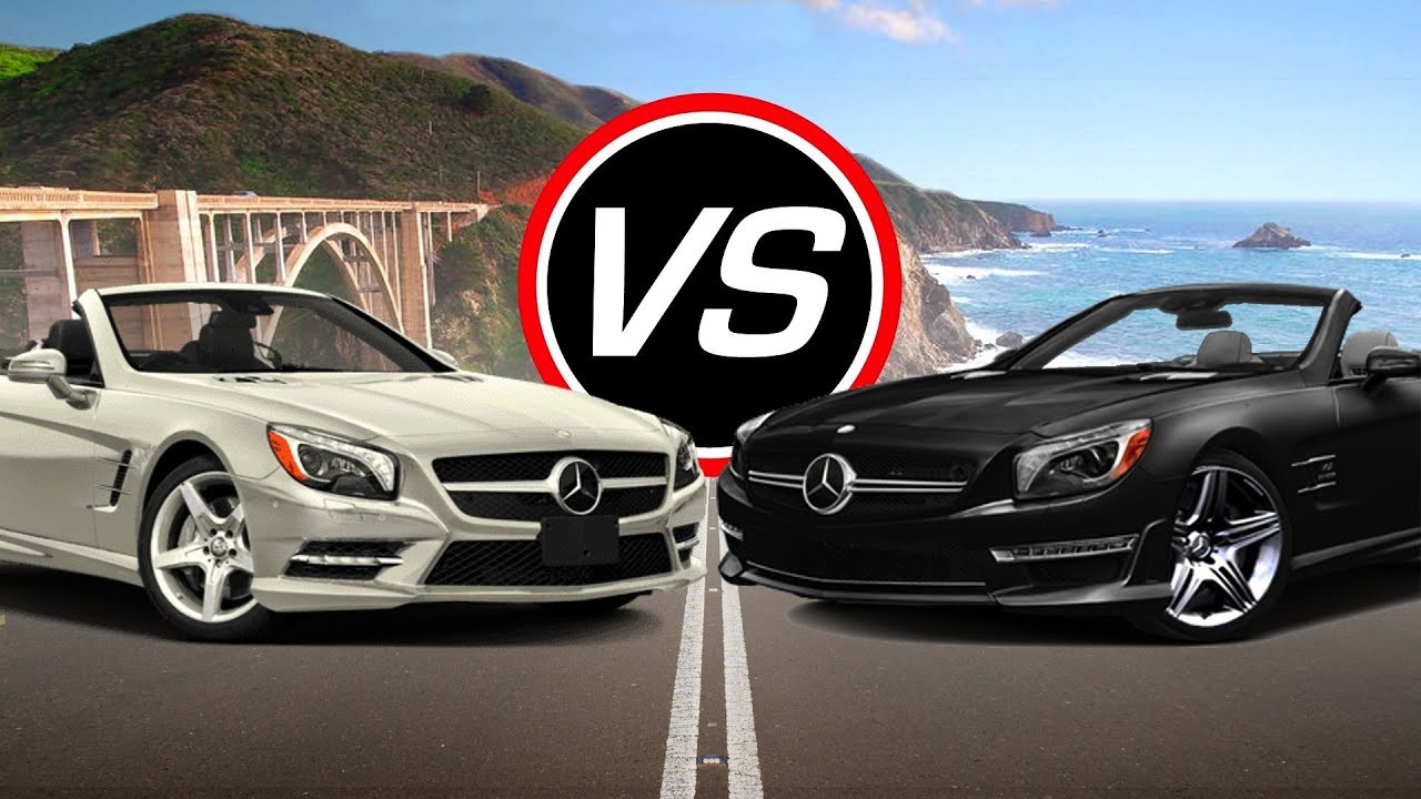 2016 Mercedes Sl550 Vs Amg Sl63 Spec Comparison Youtube