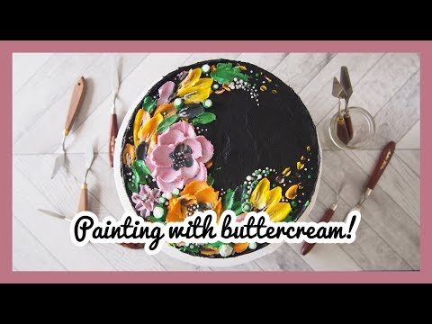 Painted Floral Buttercream Cake | Greggy Soriano