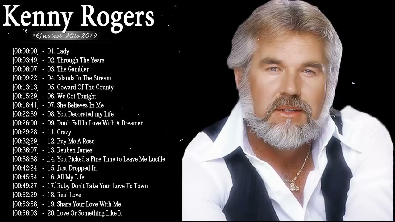 BEST OF 70s FOLK ROCK AND COUNTRY MUSIC Kenny Rogers, Elton John, Bee Gees, John Denver