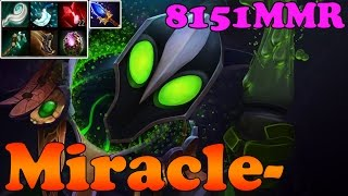 Dota 2 - Miracle- 8151MMR - TOP 1 MMR in The World Plays Rubick vol 8 - Ranked Match Gameplay