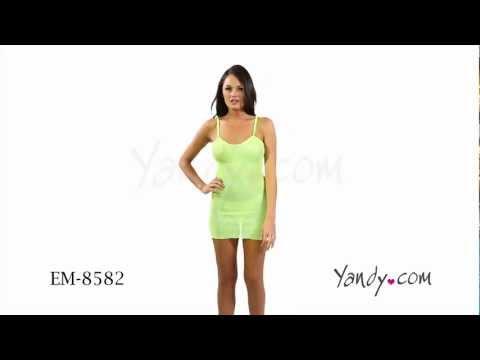 Neon Fishnet Mini Dress