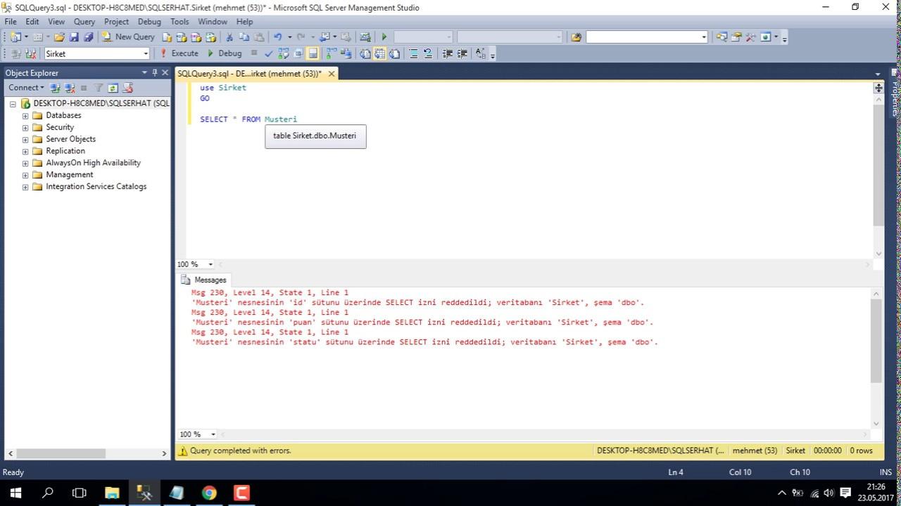 SQL SERVER LOGIN (USER KISITLAMA) - YouTube