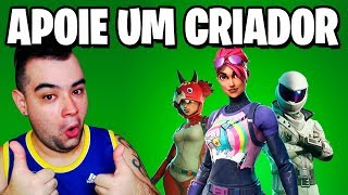 Fortnite - AJUDE UM YOUTUBER ou STREAMER