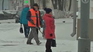 В Гомеле выпал снег. Коммунальные службы приняли вызов и оперативно перешли на зимний режим работы
