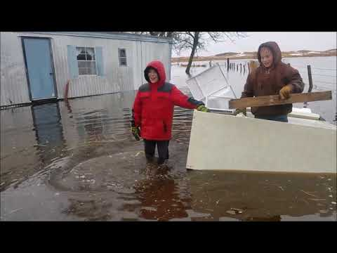 March 2019 Burwell, Nebraska Flood- Our Ranch Throughout the Day