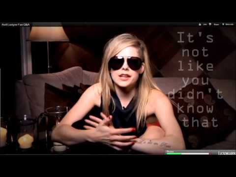 Avril Lavigne Covering How You Remind Me Of Nickelback Lyrics On Screen