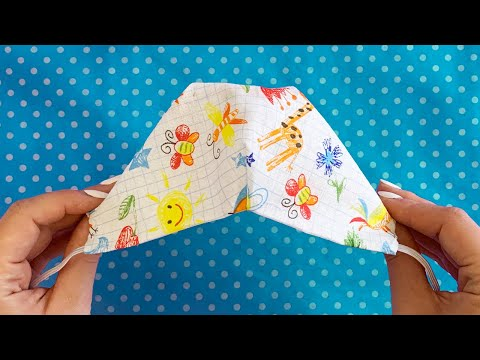 (New Style) BREATHABLE! Summer Face Mask Sewing Tutorial The mask does not touch the mouth and nose