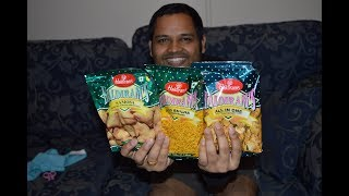 Haldiram Snack review - Aloo Bhujia, All in One and Samosa