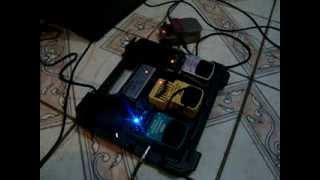 teste com os pedais behringer graphic equalizer fx 600 compressor cs 400 distorcion audio box