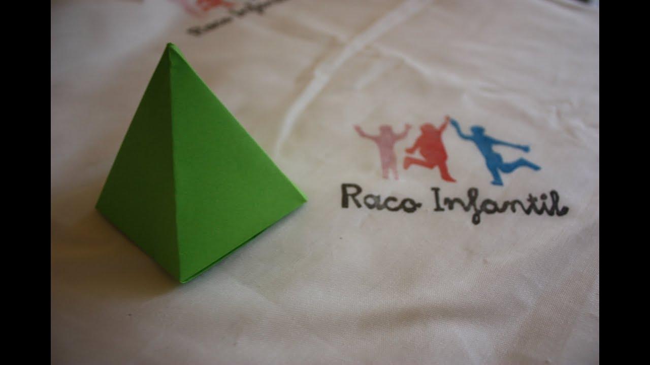 C Mo Hacer Una Pir Mide En Origami Youtube