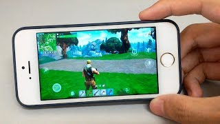 Fortnite Mobile on iPhone