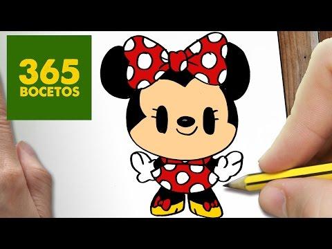 Como Dibujar Minnie Mouse Kawaii Paso A Paso Dibujos Kawaii