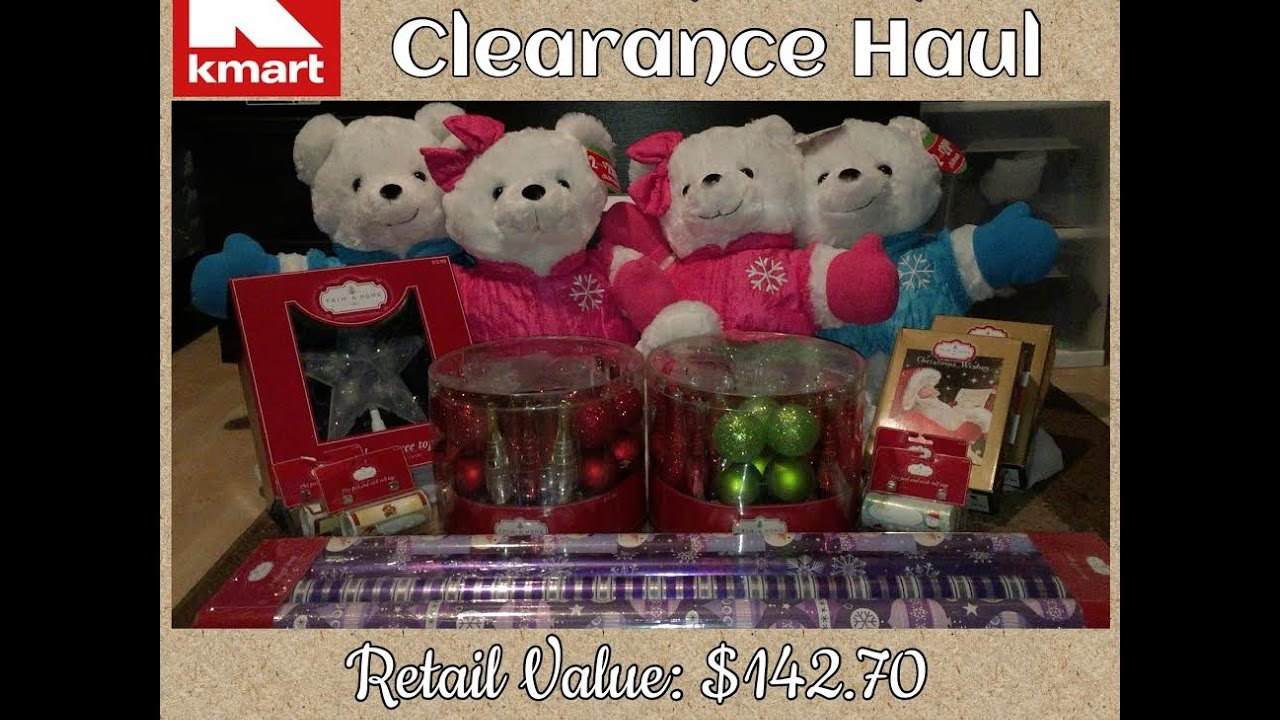 Saved $127.80 at Kmart\'s 90% off Christmas Clearance Items - YouTube